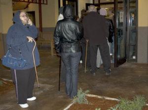 Line at Denny's